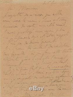 Edouard VUILLARD Lettre autographe signée 1917