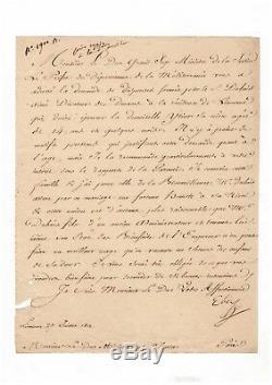 Elisa Bonaparte / Lettre Signée (1812) / Livourne / Napoléon / Premier Empire