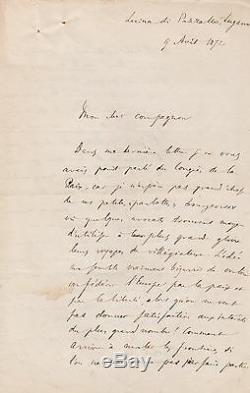 Elisee Reclus Lettre Autographe Signee