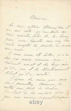 Émile FROMENT MEURICE lettre autographe signée joailler procès Maison Marnyhac