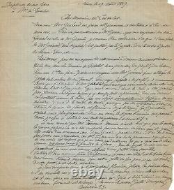 Émile GALLÉ Lettre autographe signée Ses uvres dans la Gazette des Beaux-Arts