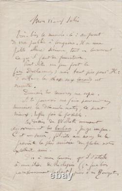 Émile GOUDEAU RARE Lettre autographe signée à Rodolphe SALIS