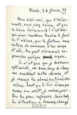 Emile ZOLA / Lettre autographe signée / Affaire Dreyfus / Exil / Procès