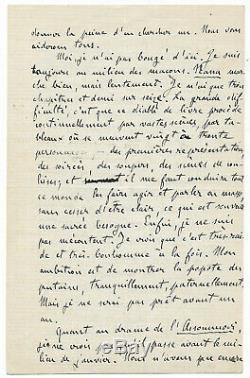 Emile ZOLA / Lettre autographe signée / Nana / L'Assommoir / Flaubert