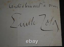 Emile Zola Belle Lettre Autographe Signee A Rene Baschet Sur Son Roman Le Reve