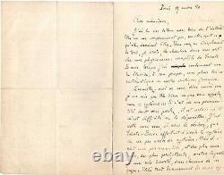Émile Zola Lettre Autographe Signée Sainte Beuve Troubat 1880 Paris