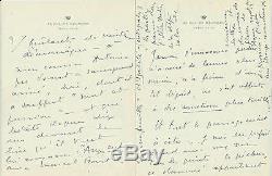 Eo Princesse Bibesco + Dédicace + Lettre Autographe Au Bal Avec Marcel Proust