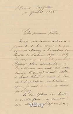 Ernest DELAHAYE Lettre autographe signée à G. KAHN. Rimbaud Verlaine Nouveau