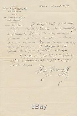 Etienne CHARAVAY Lettre autographe signée. Sur une lettre de Marie Antoinette
