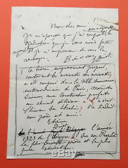 Etienne DINET Lettre autographe signée