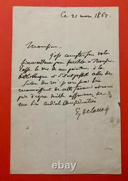 Eugène DELACROIX Lettre autographe signée