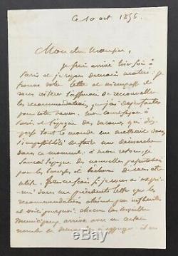 Eugène DELACROIX -Peintre- Lettre autographe signée Autograph letter signed 2p