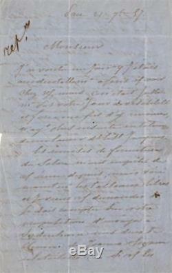 Eugène DEVERIA Lettre autographe signée sur ses toiles