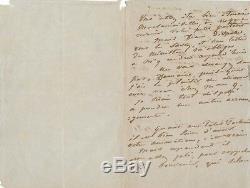 Eugène Isabey peintre lettre autographe signée 1851 portrait jeune fille