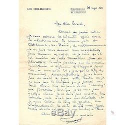 FERNANDEL Rare Correspondance autographe signée 4 belles lettres + contrat