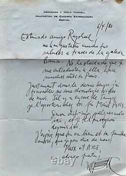 (FLUXUS) WOLF VOSTELL, Lettre manuscrite signée à Raphaël Sorin