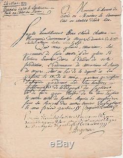 FOUQUIER TINVILLE Lettre autographe signée