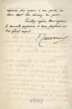 F. LENORMANT archéologue lettre autographe signée Mr Dupanloup bollandiste livre
