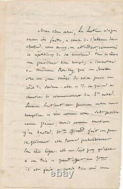 Félicien DAVID belle lettre autographe signée Le Saphir à Michel Carré