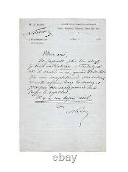 Félix Tournachon, dit NADAR / Lettre autographe signée / Photographie / Argent