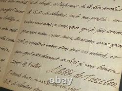 Fenelon Belle Lettre Autographe Signee A L'abbe Dubois Versailles 3 Pages 1691