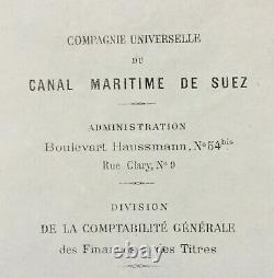 Ferdinand de LESSEPS Canal de Suez Lettre signée Signed letter 1875
