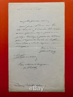 Ferdinand de LESSEPS Lettre autographe signée à Juliette Adam