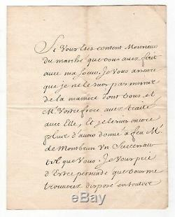 Fleuriau D'armenonville / Lettre Signée (1718) / Régence / Louis XV / Autographe