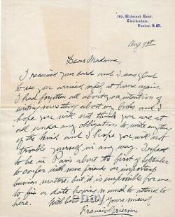 Francis GRIERSON pianiste américain lettre autographe signée musique Londres
