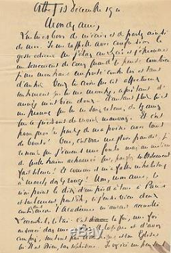 Francis JAMMES Lettre autographe signée. Ses espoirs d'Académie française. 1911