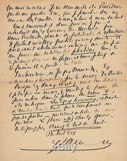 Francis JAMMES Lettre autographe signée à Alfred Valette Son entrée à l'Académie