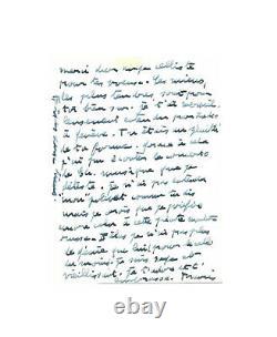 Francis POULENC / Lettre autographe signée / Musique / Chopin / Concerto Piano