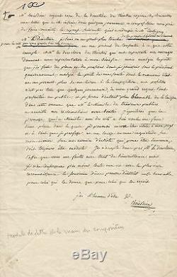 François-Adrien BOIELDIEU Lettre autographe signée à M. De Cartigny. 1833