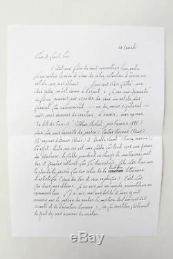 François CHENG Lettre signée à G Raillard sur son uvre AUTOGRAPHE 2000