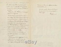 François CREPIN botaniste création Club alpin belge lettre autographe signée