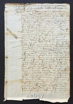 François Ier Roi de France Document + lettre signée 1536