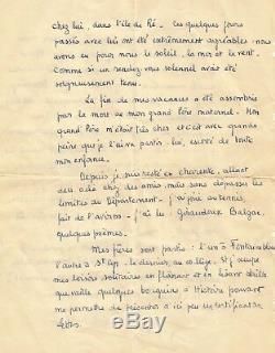 François MITTERRAND / Rare lettre autographe signée de jeunesse. 1937