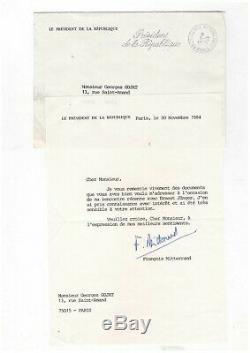 François Mitterrand / Lettre Signée (1984) / Au Sujet D'ernst Jünger