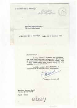 François Mitterrand / Lettre Signée (1984) / Ernest Jünger / Président / Élysée