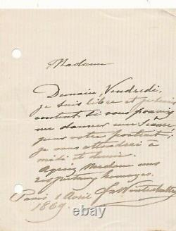 Frans Xaver WINTERHALTER peintre 3 lettres autographes signées portrait femme