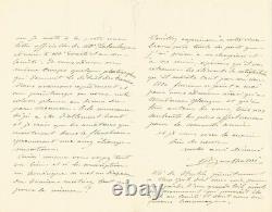 Frédéric BARTHOLDI Lettre autographe signée sur la Statue de la Liberté 1882