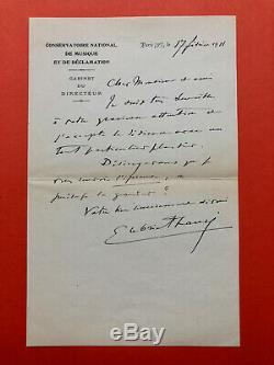 Gabriel FAURÉ Lettre autographe signée