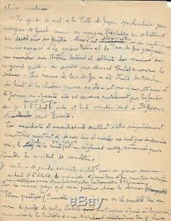 Gaston CHAISSAC Dessin original signé Lettre autographe signée