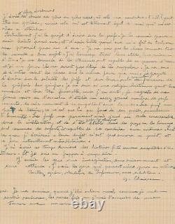 Gaston CHAISSAC lettre autographe signée son besoin d'écrire et sur les Juifs