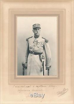 Général DEVANLAY Tunis Lettre autographe signée photographie signée à L. ATTAF