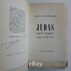 Gengenbach JUDAS Le Vampire surréaliste 1/50 pur fil signé + lettres autographes