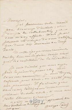 George SAND Lettre autographe signée à Léon CURMER