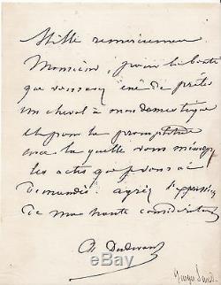 George SAND Lettre autographes signée DUDEVANT