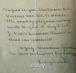 George Sand Belle Lettre Autographe Signee En-tete A Ses Initiales 2 Pages