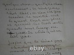 George Sand Lettre Autographe Signee A Gustave Flaubert Sur Sedaine & Zola 1876